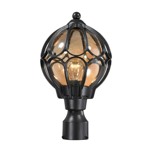 Elk Lighting - 87024/1 - One Light Post Mount - Madagascar - Matte Black