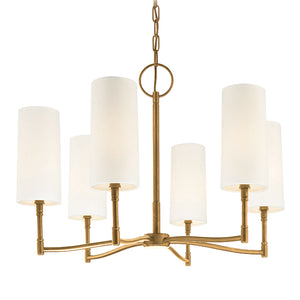 Hudson Valley - 366-AGB - Six Light Chandelier - Dillon - Aged Brass