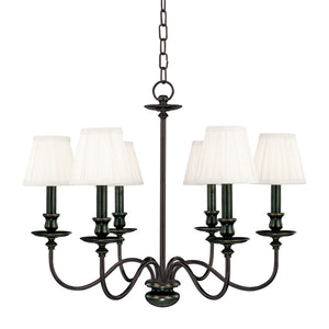 Hudson Valley - 4036-OB - Six Light Chandelier - Menlo Park - Old Bronze
