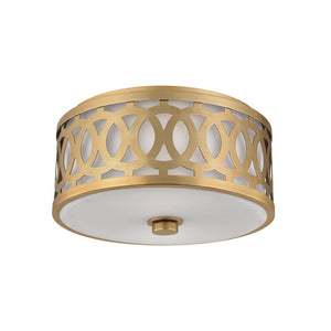 Hudson Valley - 4314-AGB - Two Light Flush Mount - Genesee - Aged Brass