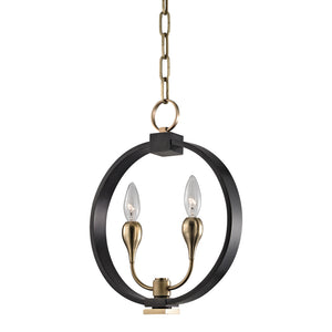Hudson Valley - 6712-AOB - Two Light Pendant - Dresden - Aged Old Bronze