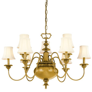 Hudson Valley - 8719-AGB - Nine Light Chandelier - Yorktown - Aged Brass