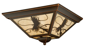 Vaxcel - T0115 - Three Light Outdoor Flush Mount - Mayfly - Burnished Bronze