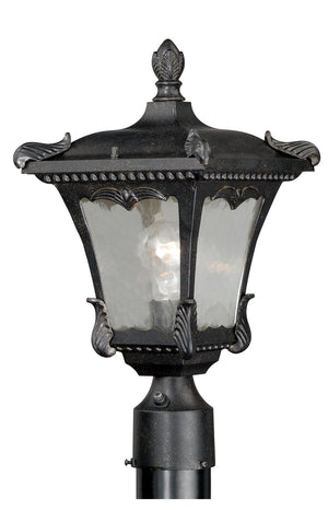 Vaxcel - T0158 - One Light Outdoor Post Mount - Castile - Weathered Bronze