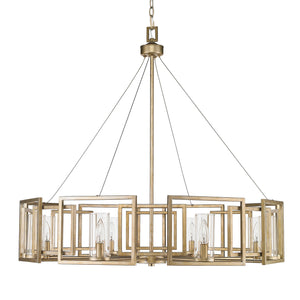Golden - 6068-8 WG - Eight Light Chandelier - Marco WG - White Gold