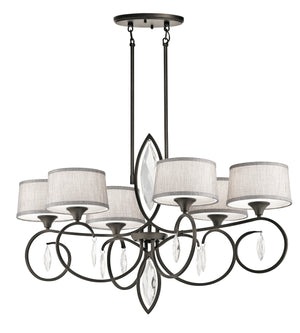 Kichler - 43569OZ - Six Light Chandelier - Casilda - Olde Bronze