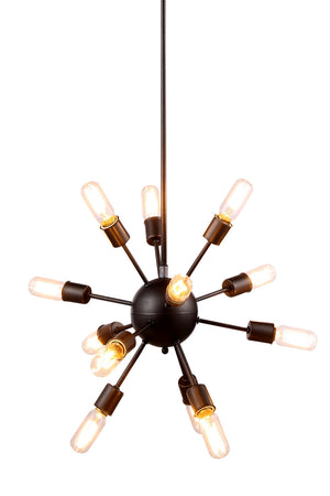Elegant Lighting - 1134D21VS - 12 Light Chandelier - Cork - Vintage Steel