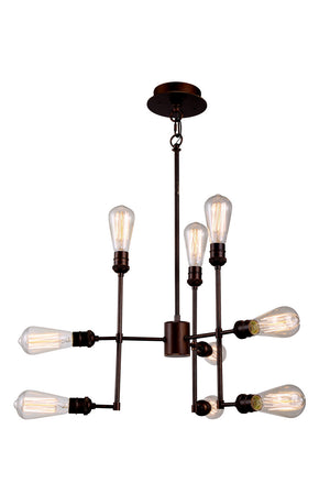 Elegant Lighting - 1139D23CB - Nine Light Chandelier - Ophelia - Cocoa Brown