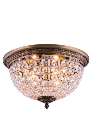 Elegant Lighting - 1205F18FG/RC - Three Light Flush Mount - Olivia - French Gold