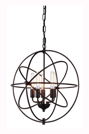 Elegant Lighting - 1453D20DB - Five Light Pendant - Vienna - Dark Bronze