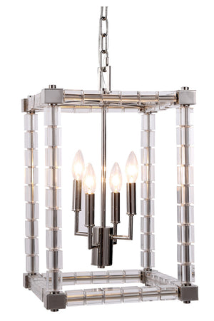 Elegant Lighting - 1461D13PN - Four Light Pendant - Cristal - Polished Nickel