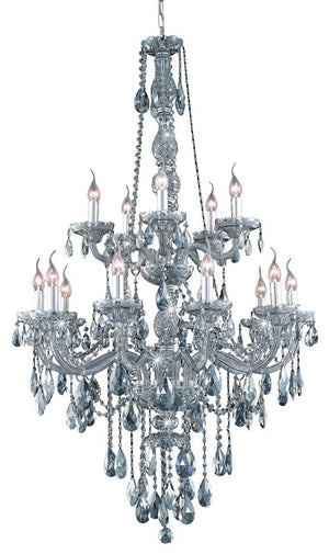 Elegant Lighting - 7915G33SS-SS/SS - 15 Light Chandelier - Verona - Silver Shade
