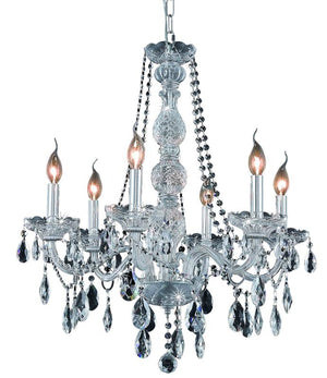Elegant Lighting - 7956D24C/SA - Six Light Chandelier - Verona - Chrome