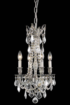 Elegant Lighting - 9204D13PW/SA - Four Light Pendant - Rosalia - Pewter