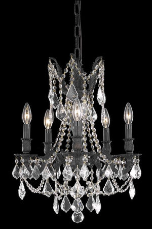 Elegant Lighting - 9205D18DB/RC - Five Light Pendant - Rosalia - Dark Bronze