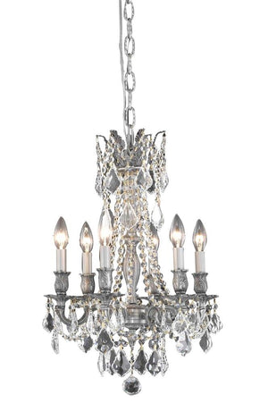 Elegant Lighting - 9206D16PW/SA - Six Light Pendant - Rosalia - Pewter