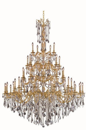 Elegant Lighting - 9255G64FG/SS - 55 Light Chandelier - Rosalia - French Gold