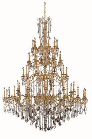 Elegant Lighting - 9260G72FG/SA - 60 Light Chandelier - Rosalia - French Gold