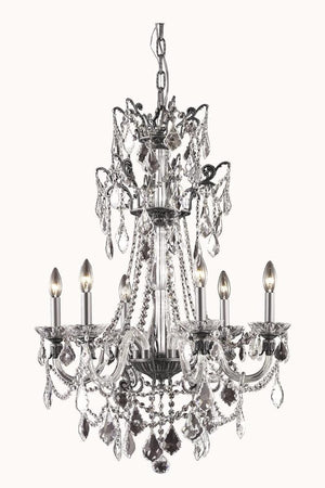 Elegant Lighting - 9806D24DB/SS - Six Light Chandelier - Imperial - Dark Bronze