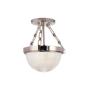 Hudson Valley - 4409-SN - One Light Semi Flush Mount - Winfield - Satin Nickel