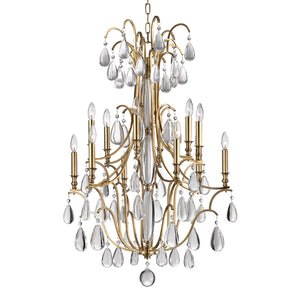 Hudson Valley - 9329-AGB - 12 Light Chandelier - Crawford - Aged Brass
