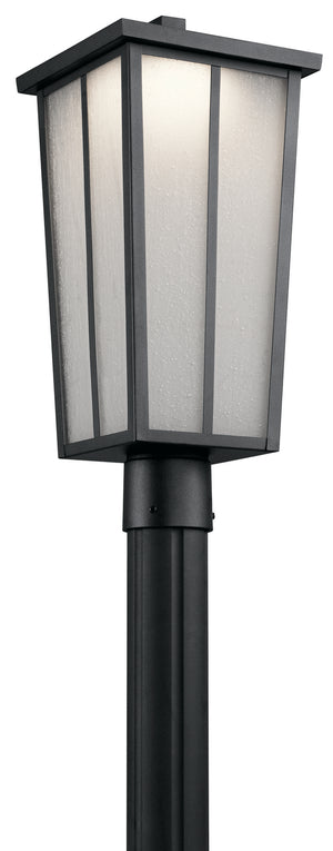 Kichler - 49625BKTLED - One Light Outdoor Post Mount - Amber Valley - Textured Black