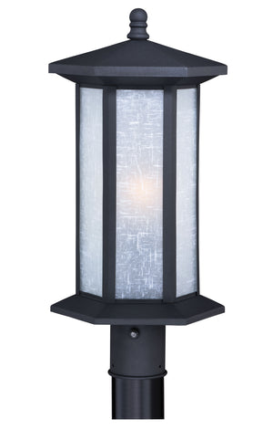 Vaxcel - T0224 - One Light Outdoor Post Mount - Halsted - Textured Black
