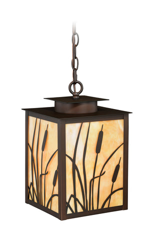 Vaxcel - T0231 - One Light Outdoor Pendant - Bulrush - Burnished Bronze