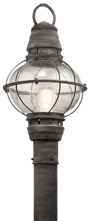 Kichler - 49631WZC - One Light Outdoor Post Mount - Bridge Point - Weathered Zinc