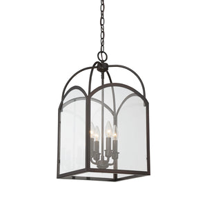 Savoy House - 3-3055-4-13 - Four Light Foyer Pendant - Garrett - English Bronze