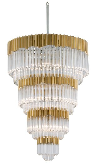 Corbett Lighting - 220-717 - 17 Light Pendant Entry - Charisma - Gold Leaf W Polished Stainless
