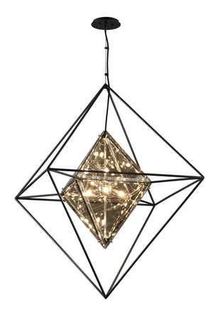 Troy Lighting - F5327 - Eight Light Pendant - Epic - Forged Iron