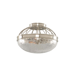 Kalco - 311340PN - Two Light Flush Mount - Montauk - Polished Nickel