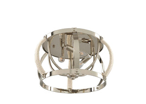Kalco - 312540PN - Three Light Flush Mount - Bradbury - Polished Nickel