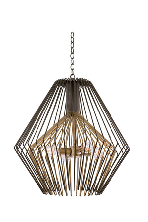 Kalco - 502252BZG - Four Light Pendant - Metro I - Bronze Gold