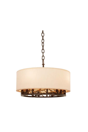 Kalco - 504151BZG - Four Light Convertible Pendant - Semi Flush Mount - Hudson - Bronze Gold