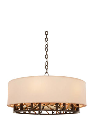 Kalco - 504152BZG - Six Light Pendant - Hudson - Bronze Gold