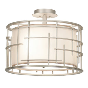 Kalco - 6482TS - Three Light Semi Flush Mount - Atelier - Tarnished Silver