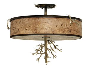 Kalco - 6613BZG - Three Light Semi Flush Mount - Oakham - Bronze Gold