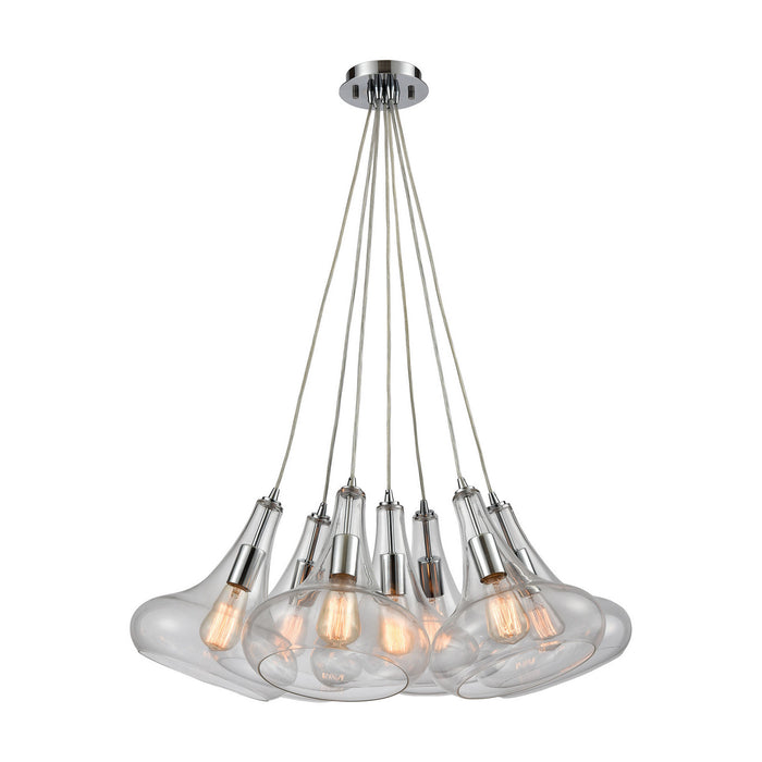 "Elk Lighting Seven Light Pendant 28.00"" Polished Chrome"