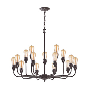 Elk Lighting - 31984/10+5 - 15 Light Chandelier - Vernon - Oil Rubbed Bronze