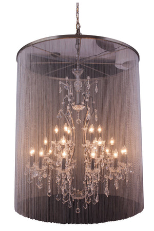 Elegant Lighting - 1131G44MB/RC - 25 Light Chandelier - Brooklyn - Matte Black