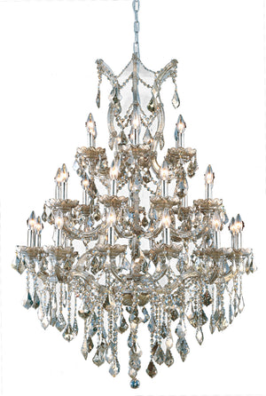 Elegant Lighting - 2800D38GT-GT/RC - 28 Light Chandelier - Maria Theresa - Golden Teak