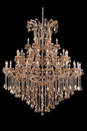 Elegant Lighting - 2800G60GT-GT/RC - 49 Light Chandelier - Maria Theresa - Golden Teak