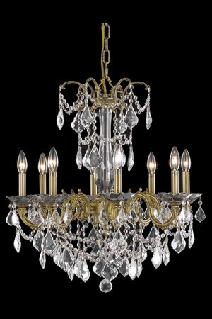Elegant Lighting - 9708D24FG/SS - Eight Light Chandelier - Athena - French Gold