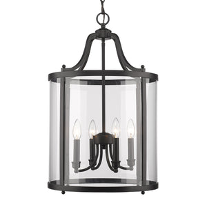 Golden - 1157-4P BLK - Four Light Pendant - Payton BLK - Black
