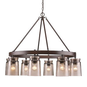 Golden - 1405-8 RBZ-AG - Eight Light Chandelier - Travers - Rubbed Bronze