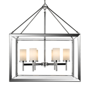 Golden - 2074-6 CH-OP - Six Light Chandelier - Smyth CH - Chrome