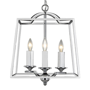 Golden - 3074-3P CH - Three Light Pendant - Athena CH - Chrome