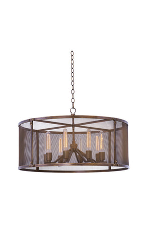 Kalco - 502151CP - Eight Light Pendant - Chelsea - Copper Patina